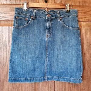 GAP Jeans high waisted jean mini skirt